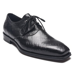 Cesare Paciotti Men Leather Nappa Rete Oxfords Black