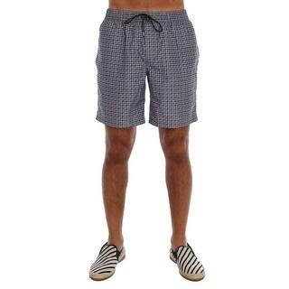 Dolce & Gabbana Blue Print Beachwear Shorts - S