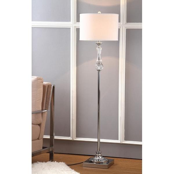 "SAFAVIEH Lighting 60-inch Crystal Canterbury Floor Lamp - 15""x15""x60"". Opens flyout."