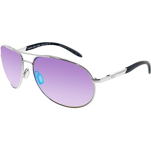 0aba518f82 Shop Costa Del Mar Polarized Wingman WM21OGMP Silver Aviator Sunglasses -  Free Shipping Today - Overstock.com - 18900269