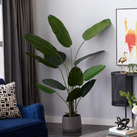 "Artificial Strelitziaceae Tree For Indoor Decoration 70"" Green - 41X29X70"