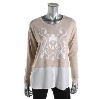 Kensie Womens Printed Long Sleeves Blouse - XS