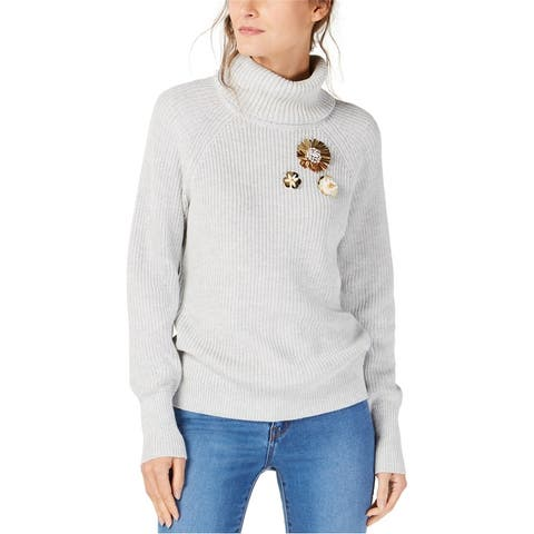 I-N-C Womens Brooch Pullover Sweater