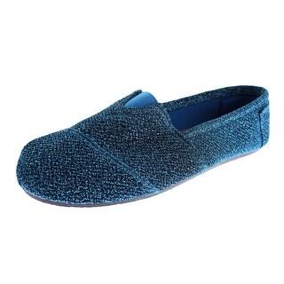 Dawgs Womens Kaymann Frost Metallic Glitter Loafers - 6 medium (b,m)
