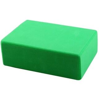 Foam Rectangle Shaped Fitness Exercise Workout Training Yoga Block Brick Green