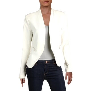 Aqua Womens Open-Front Blazer Office Wear Business Attire