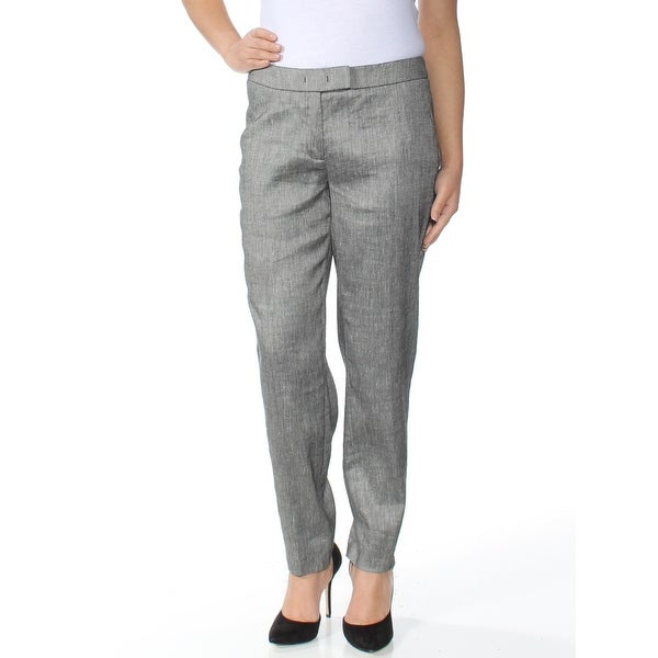 ANNE KLEIN Womens Gray Straight leg Wear To Work Pants Size: 6