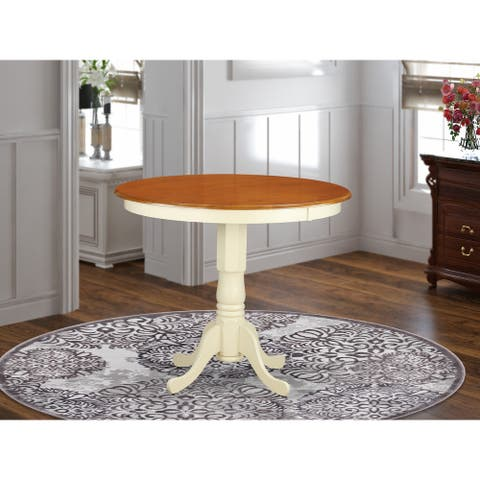 Modern Counter Height Pedestal Dining Table - (Finish Option Available)