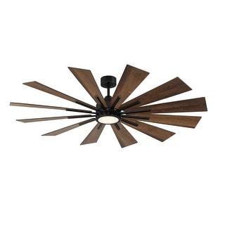 """Farmhouse 60"""" Antique Oak Ceiling Fan"""