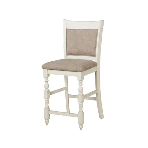 Missoula Antique Cream Upholstered Counter Height Chairs (Set of 2)