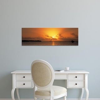 Easy Art Prints Panoramic Images's 'Sunrise Florida Bay Everglades National Park FL USA' Premium Canvas Art