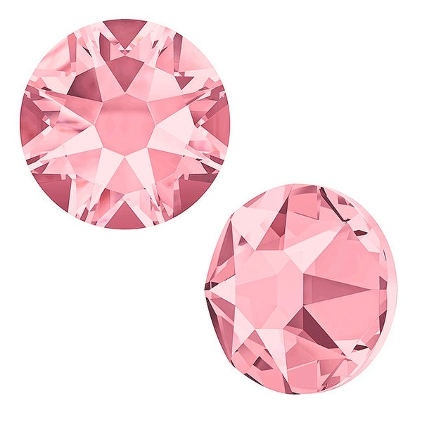 Swarovski Elements Crystal, Round Flatback Rhinestone SS12 3mm, 50 Pieces, Blush Rose F