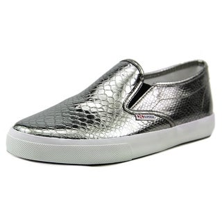 Superga 2311 Metallicsynthsn Women Round Toe Canvas Silver Sneakers