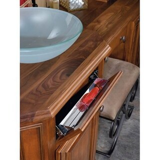 Rev-A-Shelf 6541-28-52 6541 Series 28 Inch Wide Sink Front Tip-Out Tray