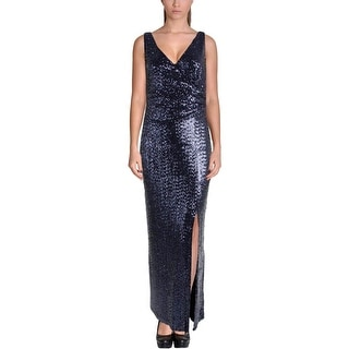 Lauren Ralph Lauren Womens Petites Mesh Prom Semi-Formal Dress