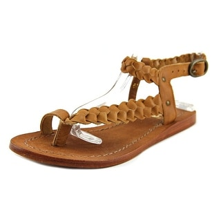 Diba See It Shine Women  Open-Toe Leather Tan Slingback Sandal