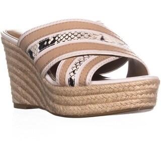Coach Florentine Slip-on Wedge Sandals, Chalk/Chalk - 9 us / 39 eu