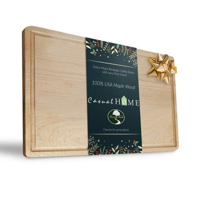 Delice Rectangle Cutting Board with Juice Drip Groove