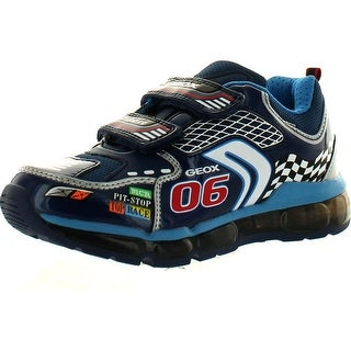 Geox Boys Android Super Racer Fashion Light Up Sneakers - Navy/Silver