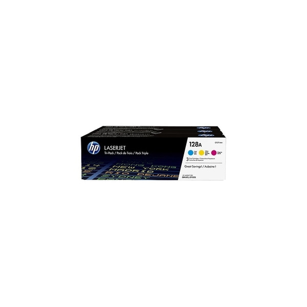 HP 128A Original LaserJet Toner Tri-Color 3 Cartridges (CF371AM)(Single Pack)
