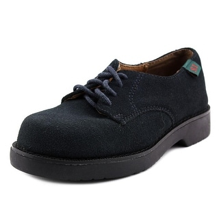School Issue Semester Youth Round Toe Leather Blue Oxford