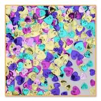 Pack of 6 Metallic Multi-Colored Heart Valentine's Day Celebration Confetti Bags 0.5 oz. - Multi