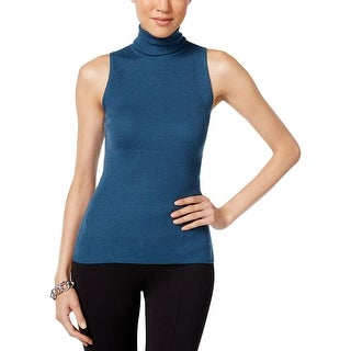 Anne Klein Womens Pullover Sweater Ribbed Sleeveless