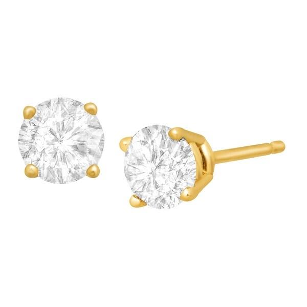 3/4 ct Diamond Stud Earrings in 14K Gold