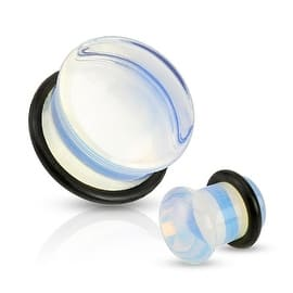 Opalite Semi Precious Stone Domed Single Flare Plug with O-Ring (Sold Individually) (Option: 00 Gauge)|https://ak1.ostkcdn.com/images/products/is/images/direct/3979e03a3b4a9185534640fcad6d7390f769a123/Opalite-Semi-Precious-Stone-Domed-Single-Flare-Plug-with-O-Ring-%28Sold-Individually%29.jpg?impolicy=medium