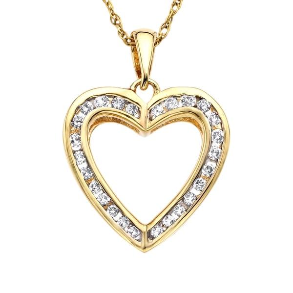 1/4 ct Diamond Heart Pendant in 14K Gold