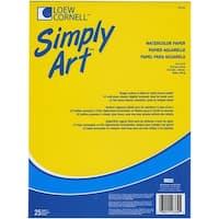 "Simply Art Watercolor Paper Pad 9""X12""-25 Sheets"