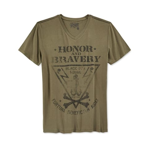 Retrofit Mens Honor & Bravery Graphic T-Shirt, Green, Small