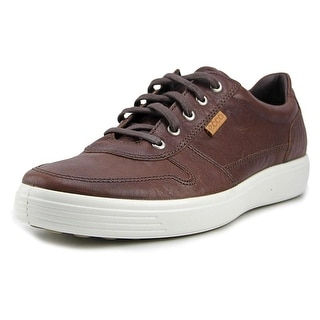 Ecco Soft 7 Women Round Toe Leather Brown Sneakers