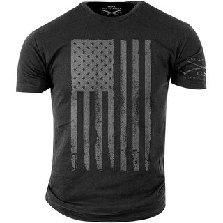 Grunt Style America Grey T-Shirt - Heather Charcoal