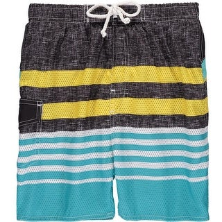 Quad Seven Boys 4-7 Stripe Swim Trunk