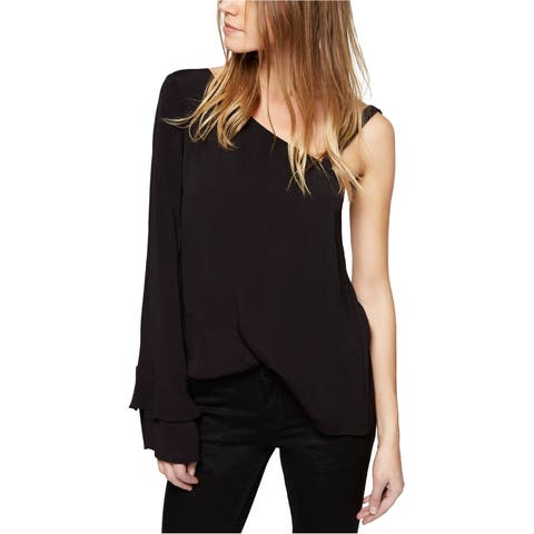 Sanctuary Clothing Womens Solid One Shoulder Blouse