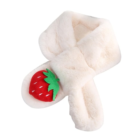Cute Strawberry Children Kid Boy Girl Plush Warm Winter Neck Collar Warmer Scarf