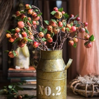 """G Home Collection Rustic Artificial Mini Apple Stems in Red 23"""" Tall"""