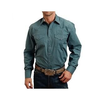 Stetson Western Shirt Mens Long Sleeve Blue 11-001-0425-0155 BU