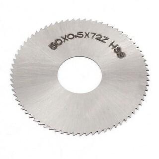 50 x 0.5mm 72 Teeth Steel Slitting Saw Slipper Plate Sheet Silver Tone