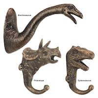 Design Toscano  Decorative Dinosaur Foundry Cast Iron Wall Hook Collection