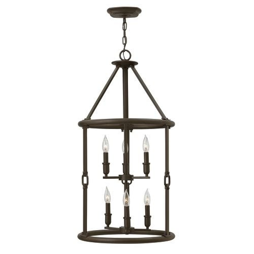 Hinkley Lighting 4784 6 Light Full Sized Foyer Chandelier from the Dakota Collection
