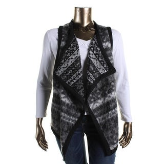 Karen Kane Womens Plus Mohair Reversible Vest