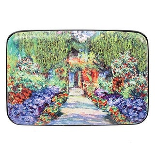 Women's Fine Art Identity Protection RFID Wallet - Garden Walk - Medium