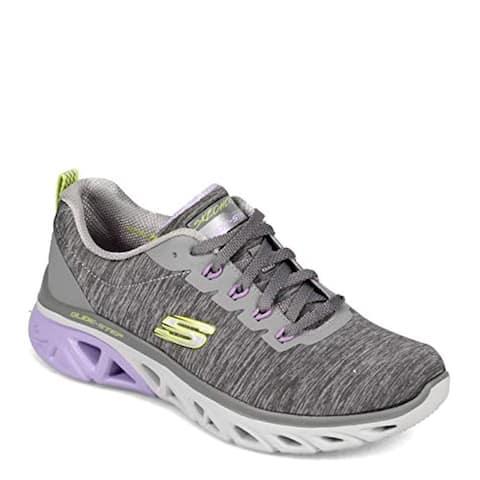 Skechers Women's Glide Step Sneaker, GYLV=Gray Lavender, 5
