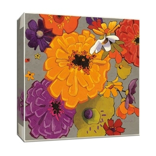 "PTM Images 9-153466  PTM Canvas Collection 12"" x 12"" - ""Tossed"" Giclee Flowers Art Print on Canvas"
