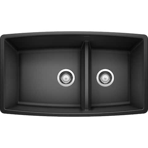 """Blanco 441310 Performa 33"""" Undermount Double Basin SILGRANIT Kitchen"""
