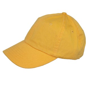 CTM® Cotton Basic Lightweight Baseball Cap (Option: Yellow)