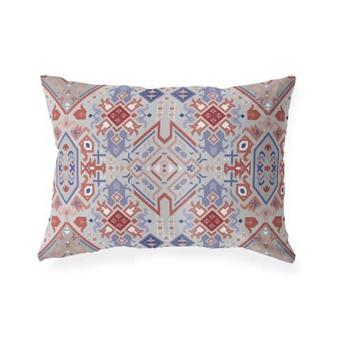 SERAPI GREY Indoor Outdoor Lumbar Pillow by Kavka Designs - 20X14