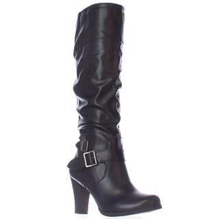 SC35 Rudyy Heeled Knee High Boots - Black